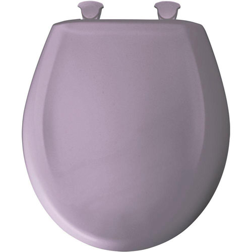 Bemis Slow Close STA-TITE Round Closed Front Toilet Seat in Lilac 523209