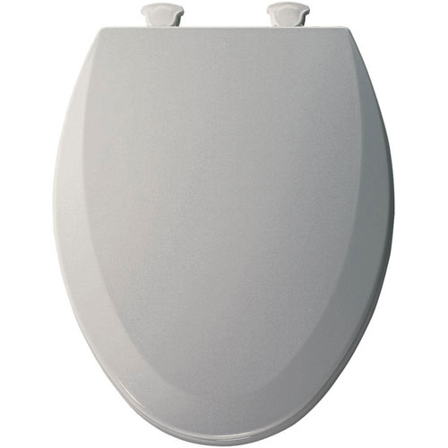 Bemis Lift-Off Elongated Closed Front Toilet Seat in Ice Grey 529600