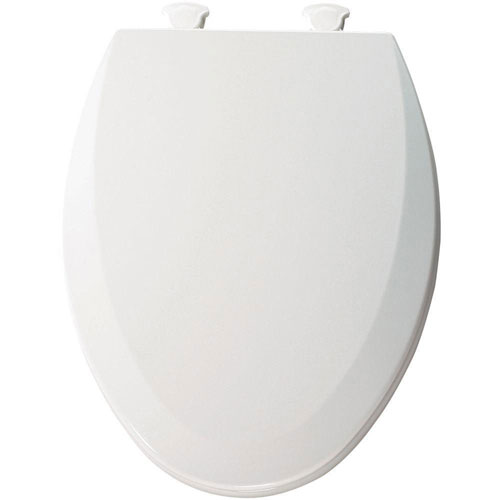 Bemis Lift-Off Elongated Closed Front Toilet Seat in Cotton White 529618