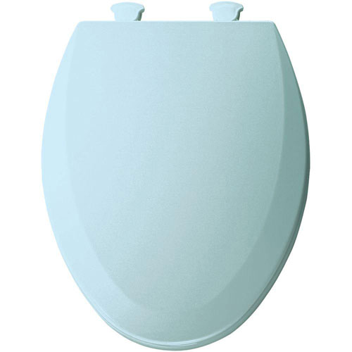 Bemis 1500EC464 Molded Wood Elongated Toilet Seat With Easy Clean and Change Hinge Dresden Blue 529622