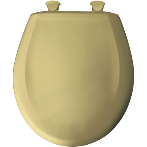 Bemis Round Closed Front Toilet Seat in Harvest Gold 529672