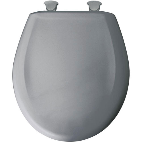Bemis Whisper Close Round Closed Front Toilet Seat in Country Grey 529674