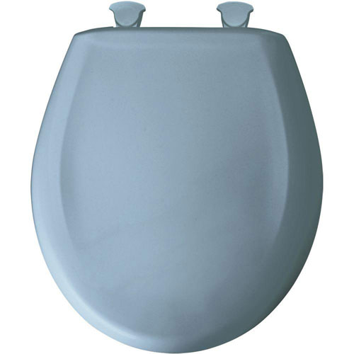 Bemis Round Closed Front Toilet Seat in Sky Blue 529675