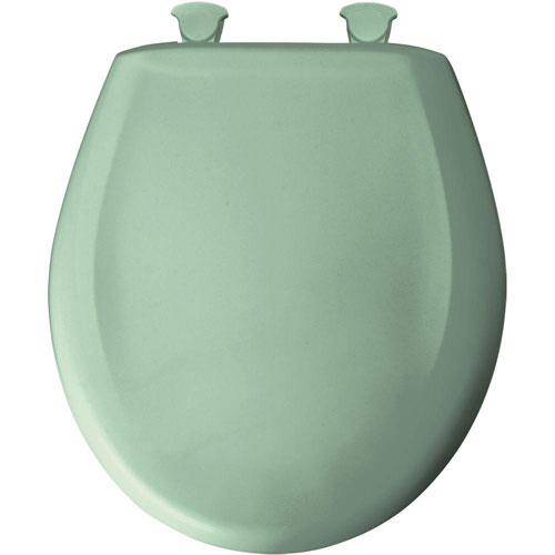 Bemis Whisper Close Round Closed Front Toilet Seat in Sea Green 529676
