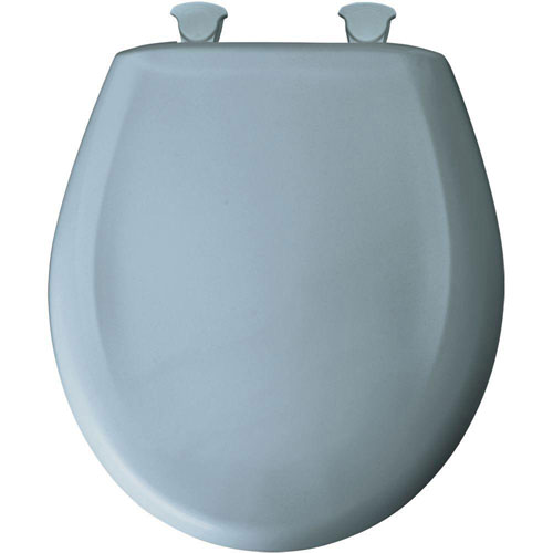 Bemis Whisper Close Round Closed Front Toilet Seat in Cerulean Blue 529682