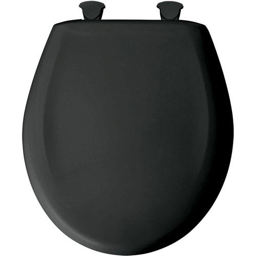Bemis Round Closed Front Toilet Seat in Black 529683