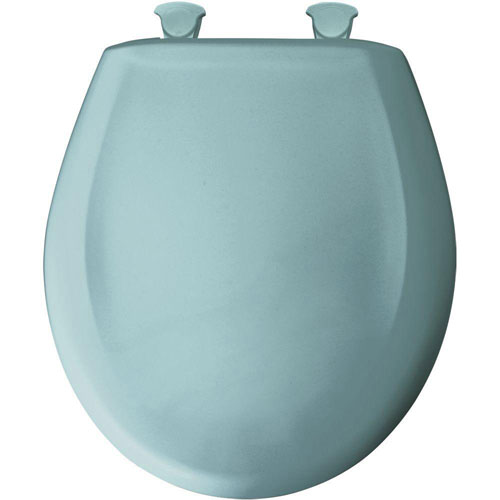 Bemis Round Closed Front Toilet Seat in Blue 529688