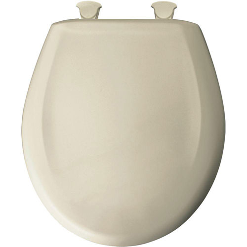 Bemis Slow Close STA-TITE Round Closed Front Toilet Seat in Almond 529698