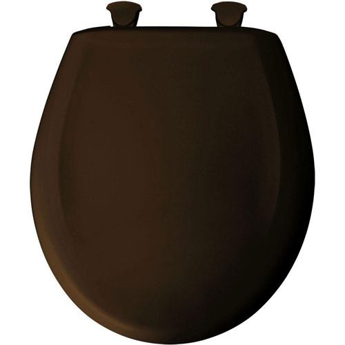 Bemis Round Closed Front Toilet Seat in Americana Brown 529705