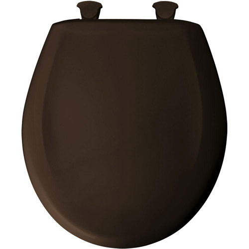 Bemis Round Closed Front Toilet Seat in Espresso Brown 529709