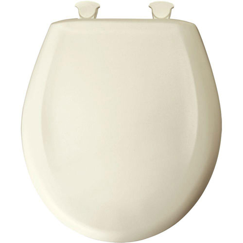 Bemis Slow Close STA-TITE Round Closed Front Toilet Seat in Biscuit 529721