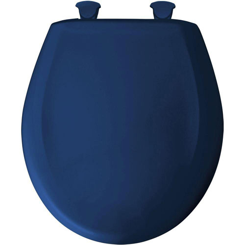 Bemis Round Closed Front Toilet Seat in Colonial Blue 529725