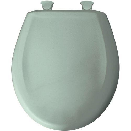 Bemis Round Closed Front Toilet Seat in Seafoam 529740