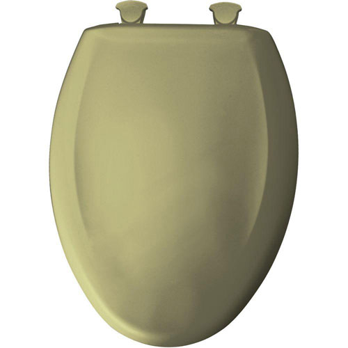 Bemis Slow Close STA-TITE Elongated Closed Front Toilet Seat in Avocado 529782