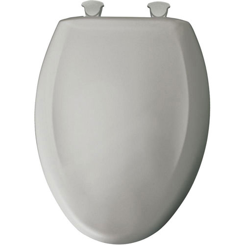 Bemis Slow Close STA-TITE Elongated Closed Front Toilet Seat in Silver 529786