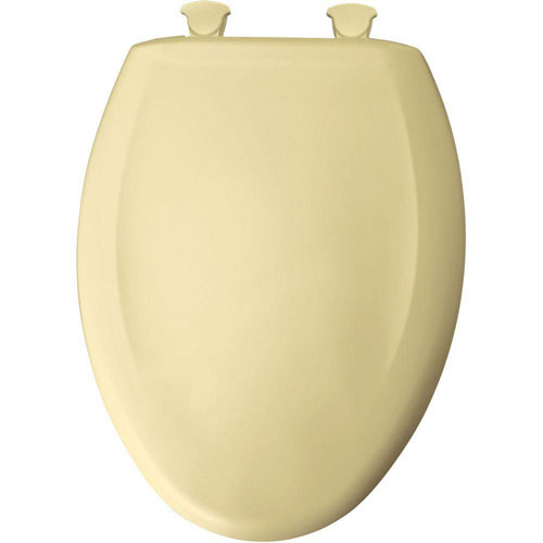Bemis Slow Close STA-TITE Elongated Closed Front Toilet Seat in Creamy Yellow 529791