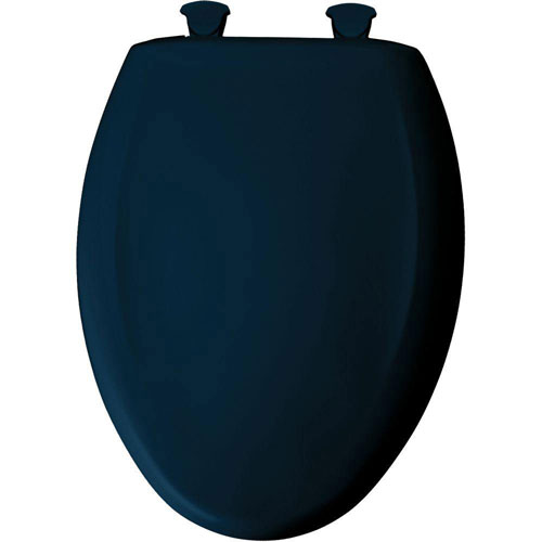 Bemis Slow Close STA-TITE Elongated Closed Front Toilet Seat in Navy 529792
