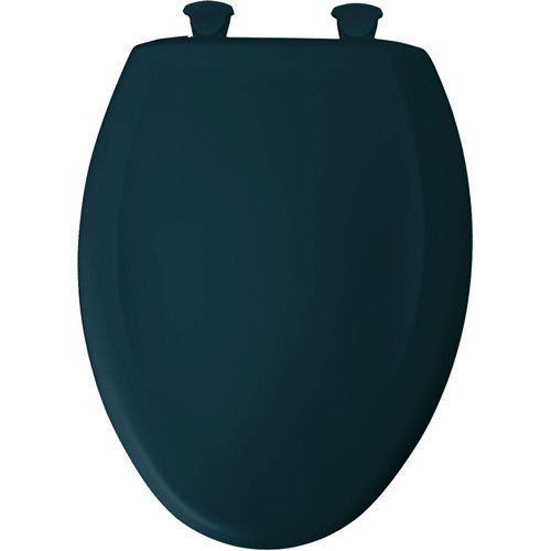 Bemis Slow Close STA-TITE Elongated Closed Front Toilet Seat in Verde Green 529798