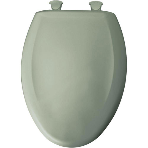 Bemis Slow Close STA-TITE Elongated Closed Front Toilet Seat in Aspen Green 529801