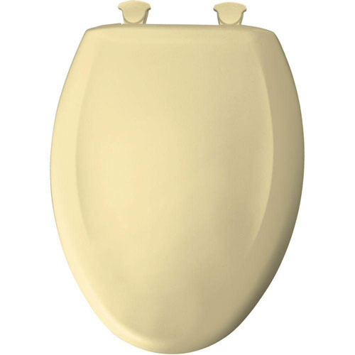 Bemis Slow Close STA-TITE Elongated Closed Front Toilet Seat in Sunlight 529811