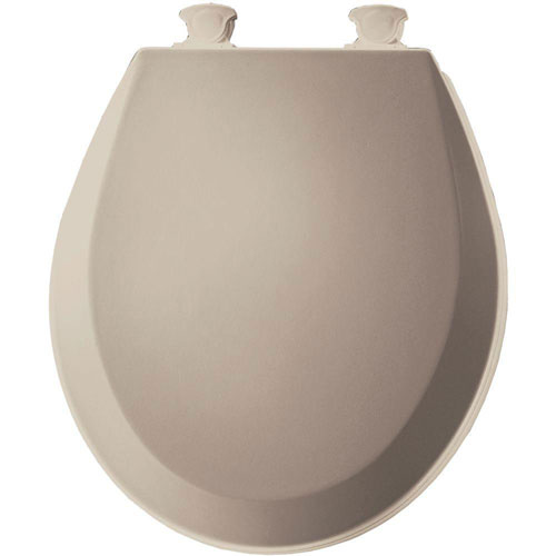 Bemis 500EC068 Molded Wood Round Toilet Seat With Easy Clean and Change Hinge, Fawn Beige 529827