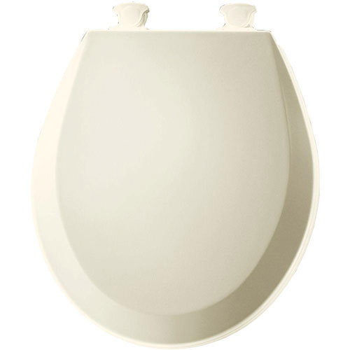Bemis 500EC346 Molded Wood Round Toilet Seat With Easy Clean and Change Hinge Biscuit 529839