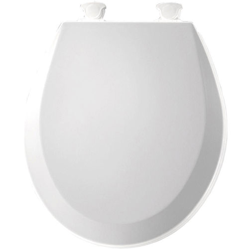 Bemis Lift-Off Round Closed Front Toilet Seat in Cotton White 529842