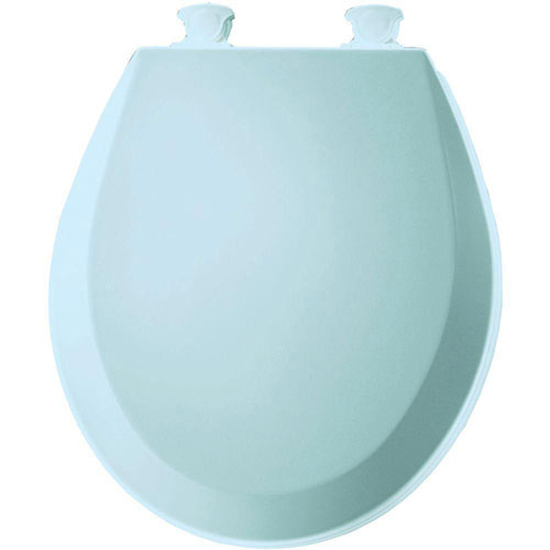 Bemis 500EC464 Molded Wood Round Toilet Seat With Easy Clean and Change Hinge, Dresden Blue 529846