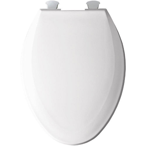 Bemis Elongated Closed Front Toilet Seat in White 529871