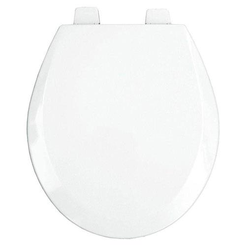 Bemis Round Open Front Toilet Seat in White 529880
