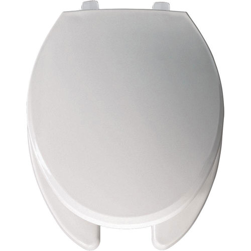 Bemis Elongated Open Front Toilet Seat in White 534774