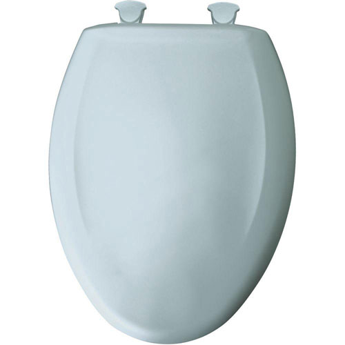 Bemis Slow Close STA-TITE Elongated Closed Front Toilet Seat in Blue Mist 539557