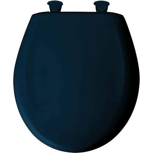 Bemis Slow Close STA-TITE Round Closed Front Toilet Seat in Navy 566605
