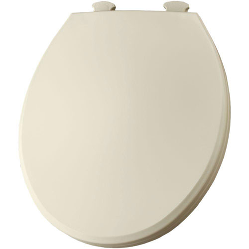 Bemis 800EC346 Plastic Round Toilet Seat with Easy Clean and Change Hinge Biscuit 566814