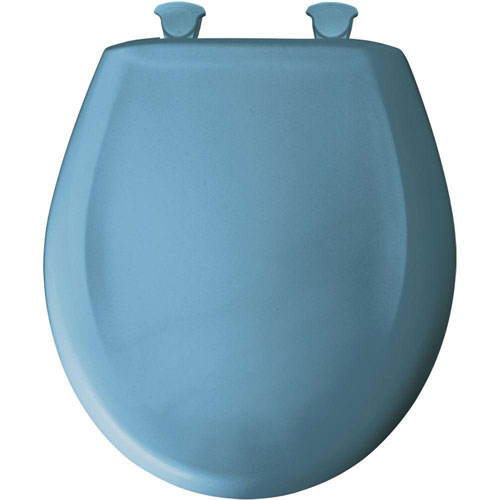 Bemis Round Closed Front Toilet Seat in New Orleans Blue 580165