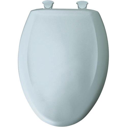Bemis Round Closed Front Plastic Toilet Seat in Blue Mist 597117