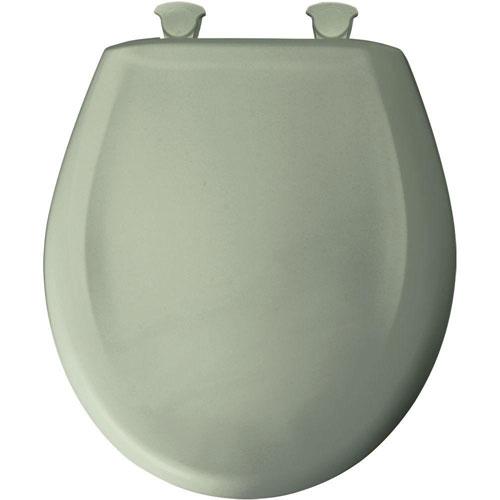 Bemis Slow Close STA-TITE Round Closed Front Toilet Seat in Avocado 61512