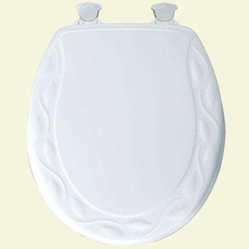 Bemis Round Closed Front Toilet Seat in White 63245