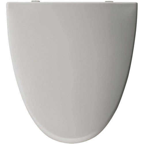 Bemis Elongated Closed Front Toilet Seat in Silver 68148