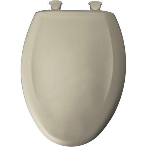 Bemis Slow Close STA-TITE Elongated Closed Front Toilet Seat in Parchment 762300