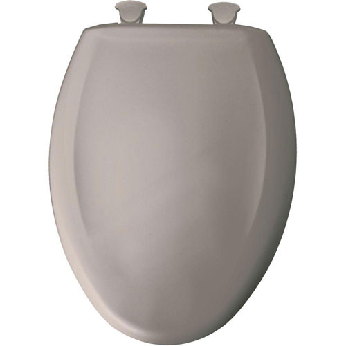 Bemis Slow Close STA-TITE Elongated Closed Front Toilet Seat in Light Mink 762488