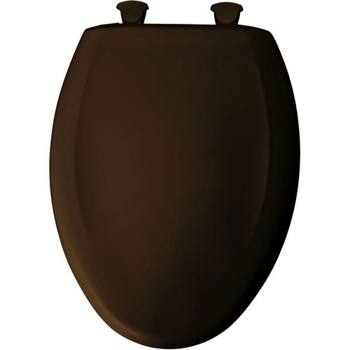 Bemis Slow Close STA-TITE Elongated Closed Front Toilet Seat in Americana Brown 763452