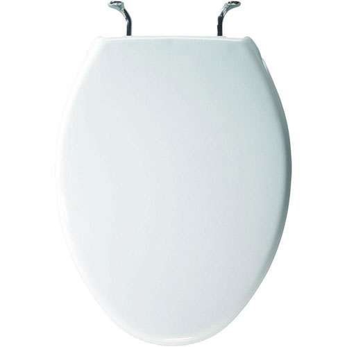 Bemis Case Elongated Closed Front Toilet Seat in White 819244
