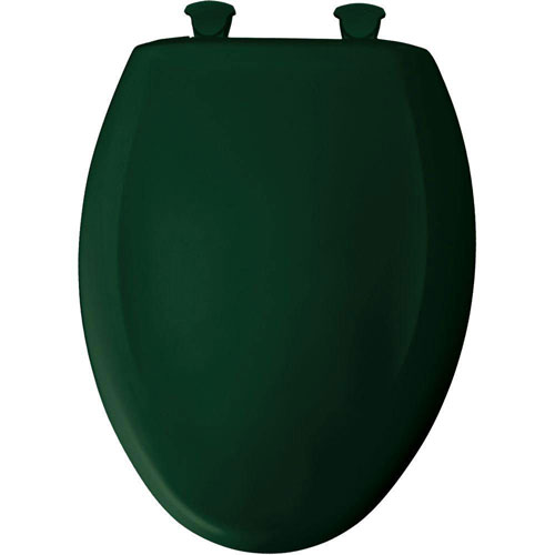 Bemis Slow Close STA-TITE Elongated Closed Front Toilet Seat in Rain Forest 876223