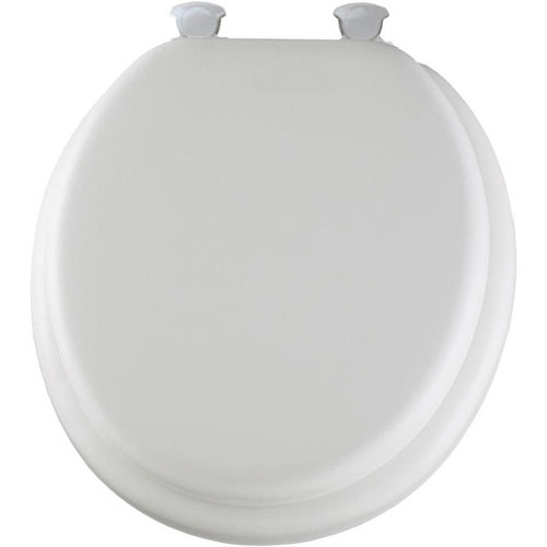 Mayfair Lift-Off Soft Round Closed Front Toilet Seat in White 877393