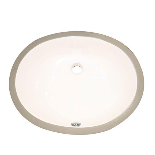 Decolav Undermount Vitreous China Bathroom Sink with Overflow in Biscuit 245629