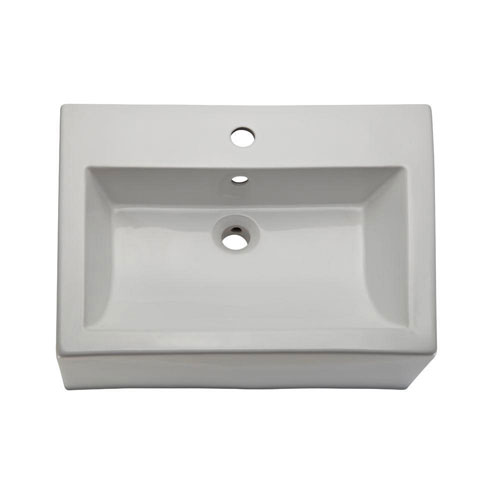 Decolav Classically Redefined Vessel Sink with Overflow in White 417297