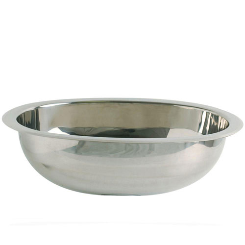 Decolav Simply Stainless Drop-in Oval Bathroom Sink in Polished Stainless-Steel 524009