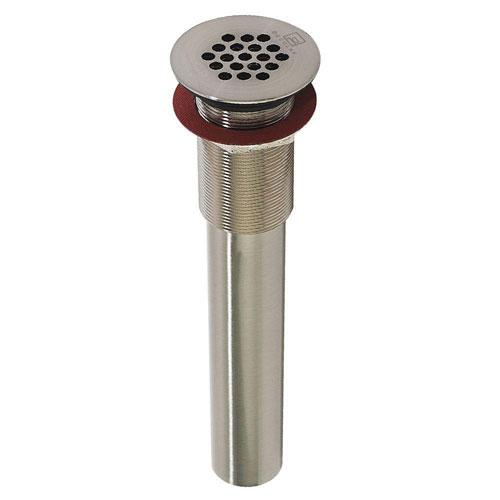 Decolav 9-3/4 inch x 2-1/5 inch Satin Nickel Grid Drain without Overflow 525117