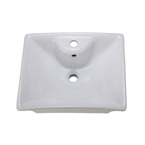 Decolav 1430-CWH Square Vitreous China Above-Counter Vessel with Overflow, White 525481
